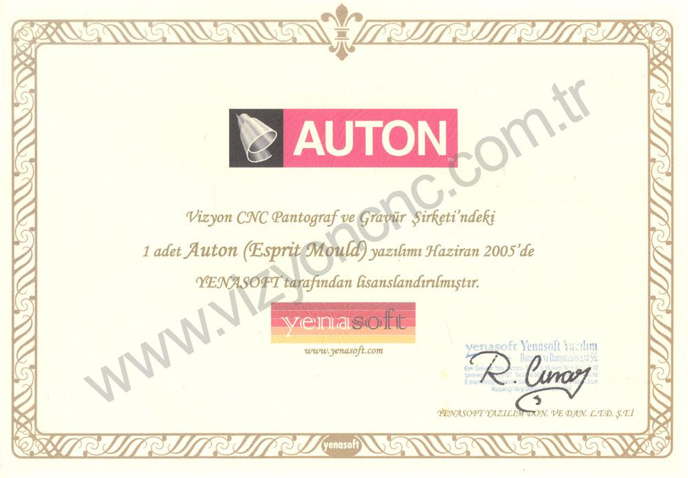 Auton Sertifikası