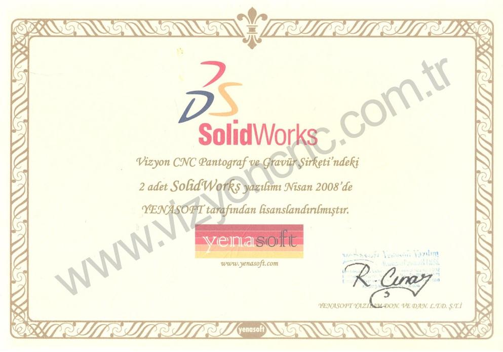 Solid Works Sertifikası